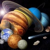The planets in the solar system, including Pluto. Credits Nasa/JPL