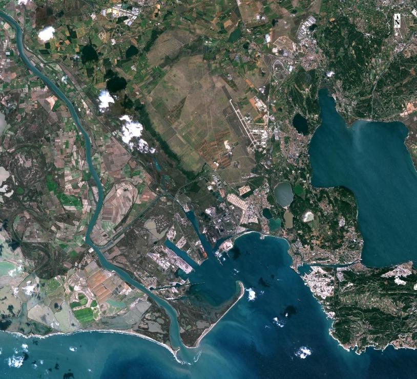 La plaine de La Crau (au nord du port de La Fos sur Mer) - zone référente - vue par Sentinel-2A