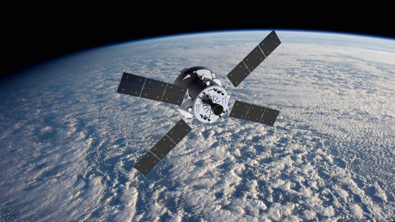 Le vaisseau Orion et le module européen ESM (vue d'artiste).