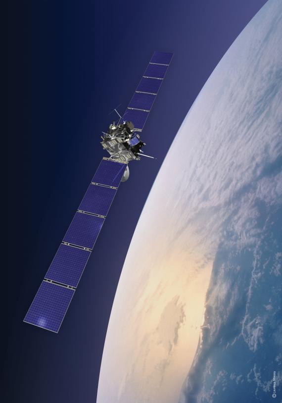 Rosetta orbiting Earth. Crédits : ESA/CNES/Espace-Médias