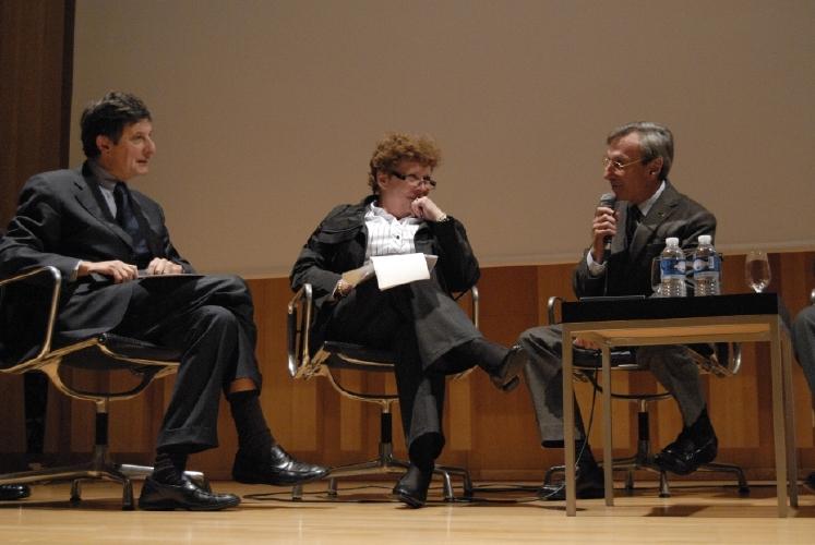 Jean-Pierre Jouyet, Catherine Trautmann et Yannick d'Escatha. Crédits : CNES/C. Urbain.