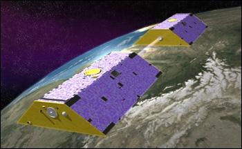 GRACE satellites. Credits: NASA.