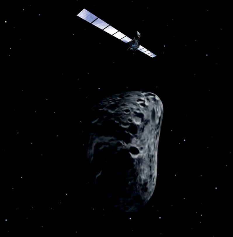 Le rendez-vous entre Rosetta et Lutetia devrait avoir lieu à 457 millions de km de la Terre. Crédits : ESA.